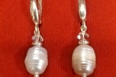 Auskarai sidabras perlas / kodas ASS 003